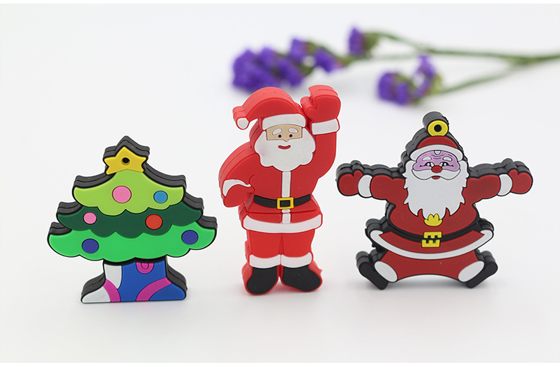 Cartoon-Santa-Claus-Christmas-Trees-Pendrive